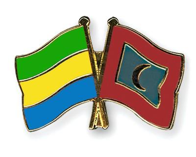 Crossed Flag Pins Gabon-Maldives