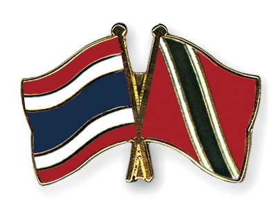 Crossed Flag Pins Thailand-Trinidad-and-Tobago