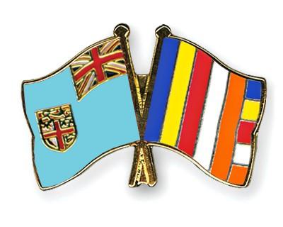 Crossed Flag Pins Fiji-Buddhism