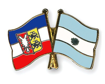Crossed Flag Pins Schleswig-Holstein-Argentina