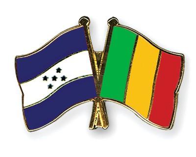 Crossed Flag Pins Honduras-Mali