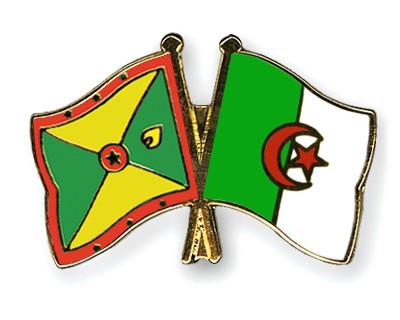 Crossed Flag Pins Grenada-Algeria
