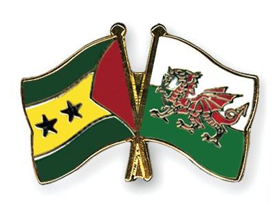 Crossed Flag Pins Sao-Tome-and-Principe-Wales