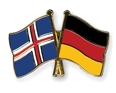 Special Offer Crossed Flag Pins Iceland-Germany