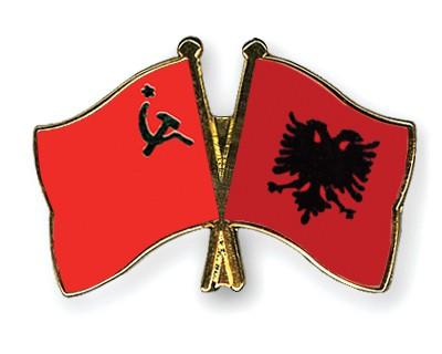 Crossed Flag Pins USSR-Albania