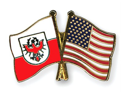 Crossed Flag Pins Tyrol-USA