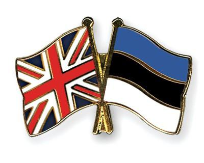 Special Offer Crossed Flag Pins Great-Britain-Estonia