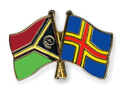 Crossed Flag Pins Vanuatu-Aland