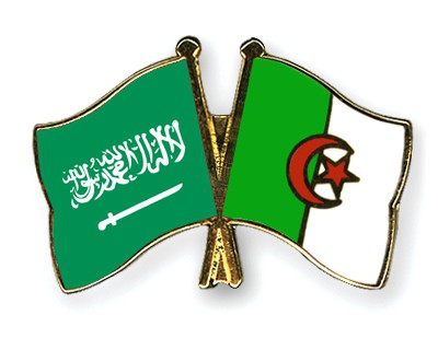 Crossed Flag Pins Saudi-Arabia-Algeria