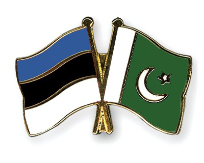Crossed Flag Pins Estonia-Pakistan