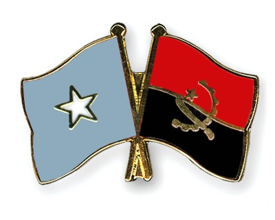 Crossed Flag Pins Somalia-Angola