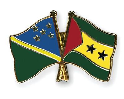 Crossed Flag Pins Solomon-Islands-Sao-Tome-and-Principe