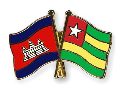 Crossed Flag Pins Cambodia-Togo