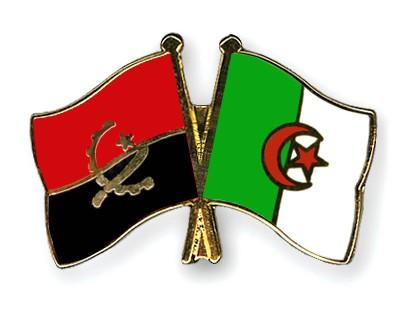 Crossed Flag Pins Angola-Algeria