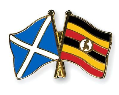 Special Offer Crossed Flag Pins Scotland-Uganda