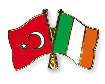 Crossed Flag Pins Turkey-Ireland