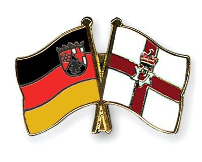Crossed Flag Pins Rhineland-Palatinate-Northern-Ireland