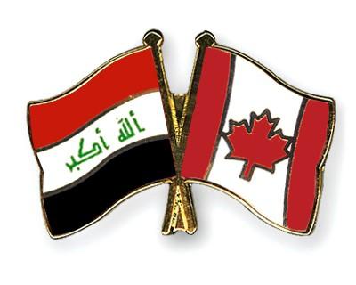 Crossed Flag Pins Iraq-Canada