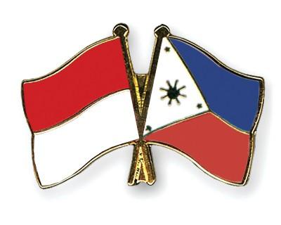 Crossed Flag Pins Indonesia-Philippines
