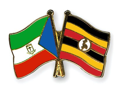 Crossed Flag Pins Equatorial-Guinea-Uganda