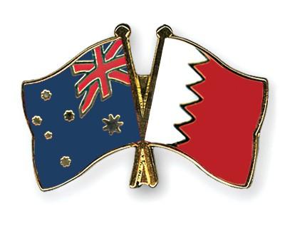 Crossed Flag Pins Australia-Bahrain