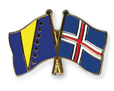 Crossed Flag Pins Bosnia-and-Herzegovina-Iceland