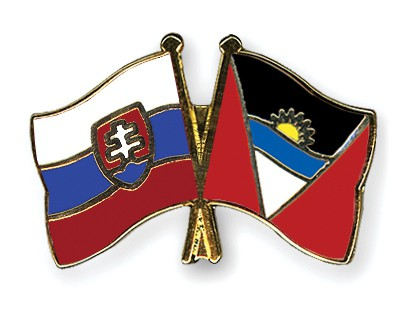 Crossed Flag Pins Slovakia-Antigua-and-Barbuda