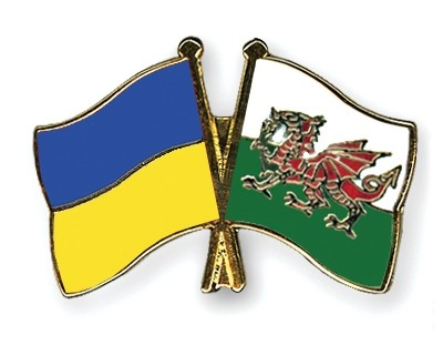 Special Offer Crossed Flag Pins Ukraine-Wales