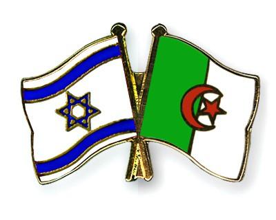 Crossed Flag Pins Israel-Algeria