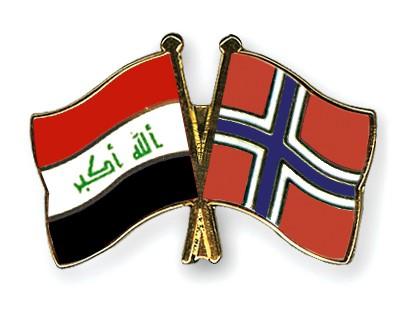 Crossed Flag Pins Iraq-Norway
