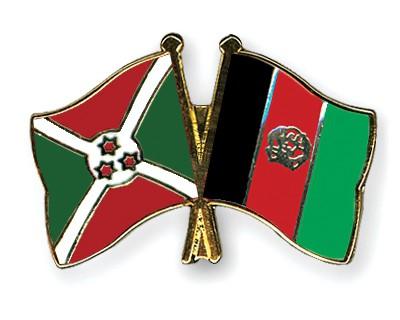 Crossed Flag Pins Burundi-Afghanistan