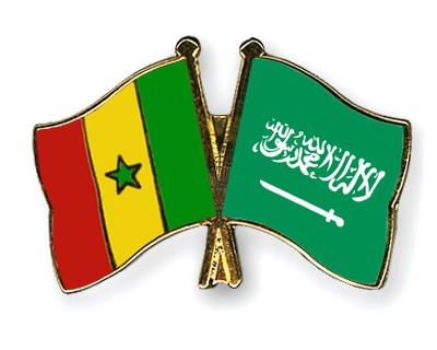 Crossed Flag Pins Senegal-Saudi-Arabia