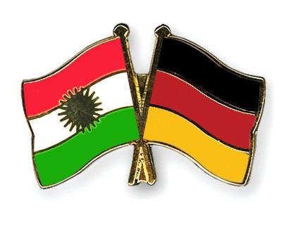 Crossed Flag Pins Kurdistan-Germany