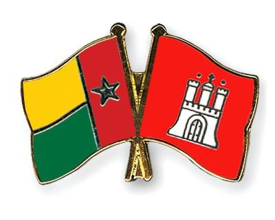 Crossed Flag Pins Guinea-Bissau-Hamburg