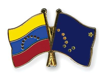 Crossed Flag Pins Venezuela-Alaska