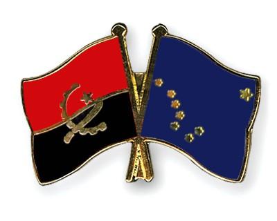 Crossed Flag Pins Angola-Alaska
