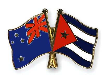 Crossed Flag Pins New-Zealand-Cuba