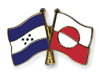 Crossed Flag Pins Honduras-Greenland
