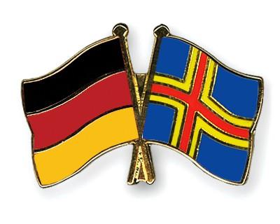 Crossed Flag Pins Germany-Aland