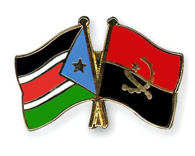 Crossed Flag Pins South-Sudan-Angola