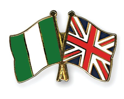 Special Offer Crossed Flag Pins Nigeria-Great-Britain