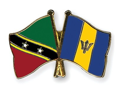 Crossed Flag Pins Saint-Kitts-and-Nevis-Barbados