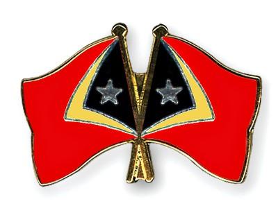 Crossed Flag Pins Timor-Leste-Timor-Leste