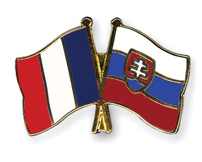 Special Offer Crossed Flag Pins France-Slovakia