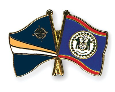 Crossed Flag Pins Marshall-Islands-Belize