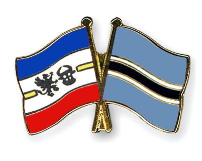 Crossed Flag Pins Mecklenburg-Western-Pomerania-Botswana