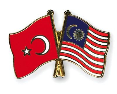 Crossed Flag Pins Turkey-Malaysia