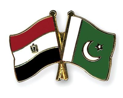 Crossed Flag Pins Egypt-Pakistan