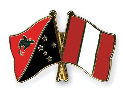 Crossed Flag Pins Papua-New-Guinea-Peru
