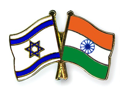 Special Offer Crossed Flag Pins Israel-India